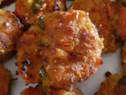 Melanzane gratinate al forno, ( una tira l'altra )
